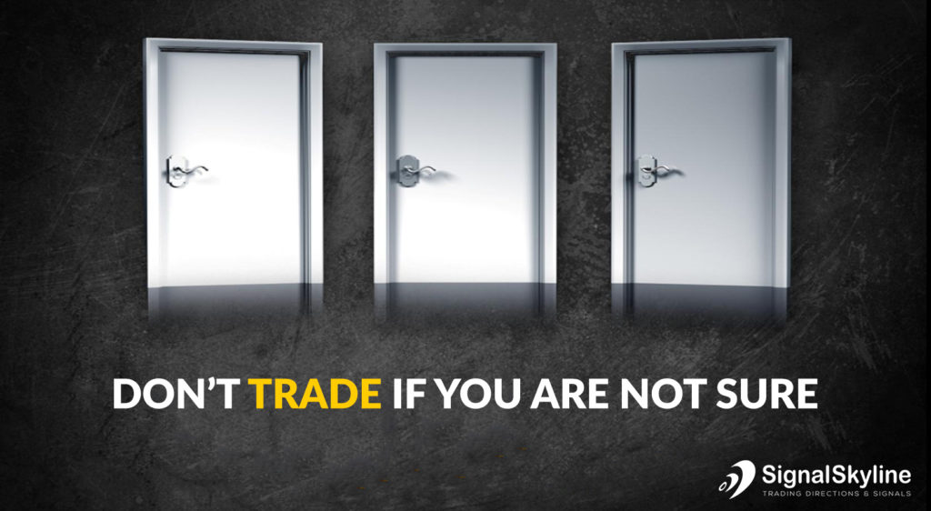 Dont trade if you are not sure